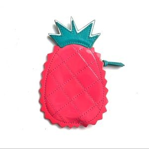 Coach Pink Patent Leather Pineapple Coin Purse
